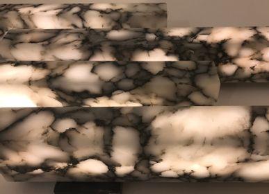 Appliques - Aplique 4 stecche alabastro bardiglio  - ROMANO BIANCHI SRL