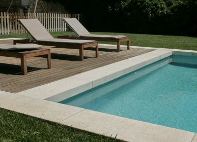 Outdoor pools - L-shaped swimmingpool surround - ROUVIERE COLLECTION