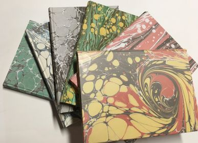 Stationery - A5 MARBLED PAPER NOTEBOOK - LEGATORIA LA CARTA