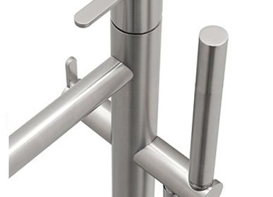 Spa and wellness - Origin Mounting Floor Mixer With Hand Shower Tap - MAISON VALENTINA