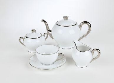 Mugs - The brilliant platinum ELEGANCE coffee cup - ALAIN BABULE
