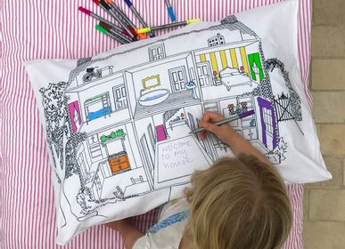 Bed linens - doll's house decorator pillowcase - EATSLEEPDOODLE