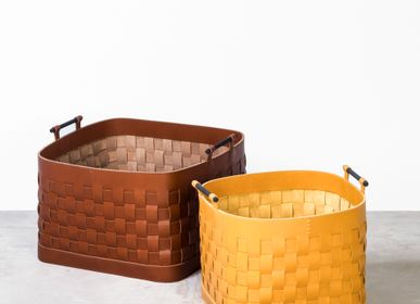 Petite maroquinerie - LEATHER WOVEN BASKETS & BOXES - RABITTI1969 BY GIOBAGNARA