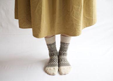 Socks - WOOL JACQUARD SOCKS - NISHIGUCHI KUTSUSHITA