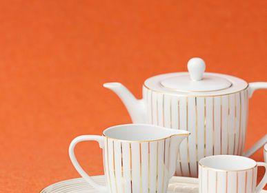 Formal plates - Golden Orbit porcelain plates - PORCEL