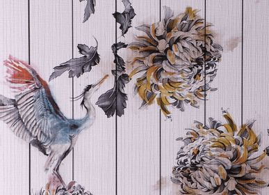 Sculptures, statuettes and miniatures - PEONY WALLPAPER - RUG'SOCIETY