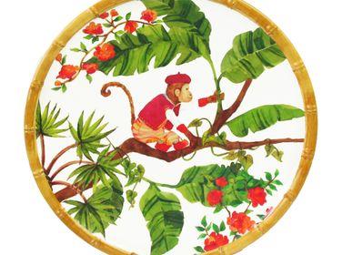 Plats et saladiers - Collection Singes de Bali en pure mélamine - LES JARDINS DE LA COMTESSE