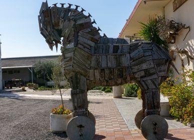 Accessoires de déco extérieure - cheval de Troie Sculpture - SILO ART FACTORY