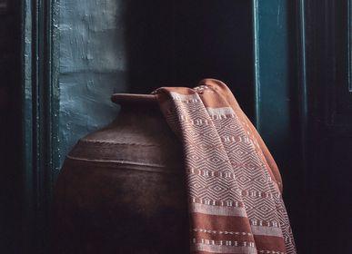 Throw blankets - DIEGO THROW, Terracotta - COUTUME