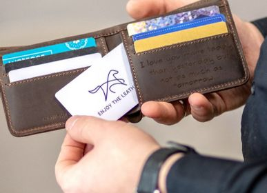 Leather goods - Leather Wallet RFID Protection - ENJOYTHELEATHER