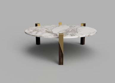 Coffee tables - Juglan Assymetrical Quad Leg Coffee Table - HIJR LONDON