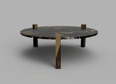 Coffee tables - Juglan Tri-Leg Coffee Table - HIJR LONDON