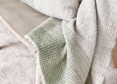 Throw blankets - Kustavi plant dyed Finnish lamb wool blanket - BONDEN