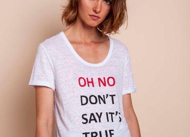Prêt à porter - TShirt OH NO ! - MADLUV CASHMERE GOES POP