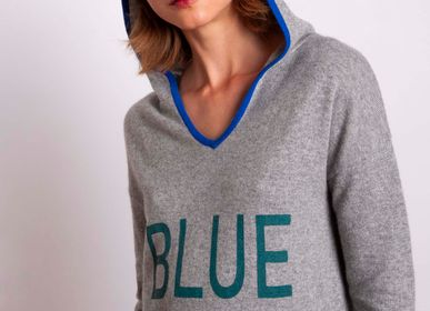 Prêt à porter - Hoody BLUE MONDAY ! - MADLUV CASHMERE GOES POP