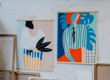 """Décoration murale - TENTURE MURALE """"LA DAME AUX MONSTERAS"""" - SHANDOR"""