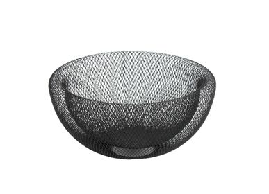 "Decorative objects - Bowl ""Maze"", black, metal - WERNER VOSS"