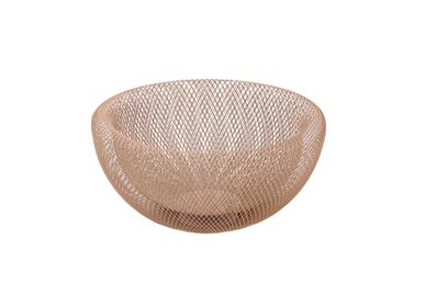 "Decorative objects - Bowl ""Maze"", pink, metal - WERNER VOSS"