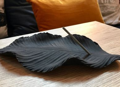 Ceramic - Incense  holder - Black Leaf ANOQ - ANOQ