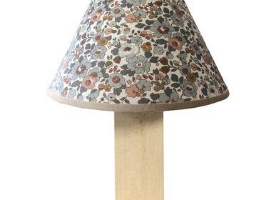 """Objets personnalisables - LAMPE """" FORESTA """" AVEC ABAT JOUR DE LA COLLECTION CHARME /FLEURS /LIBERTY (LAMPES A POSER, LAMPES DE TABLE, LAMPADAIRES, APPLIQUES, SUSPENSIONS, ABAT JOUR) - LA MAISON DE GASPARD / FP CONCEPT"""