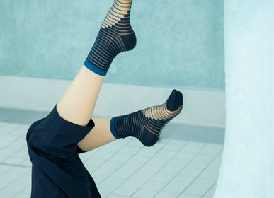 Socks - Gift box 3 pairs Blue - ATELIER ST EUSTACHE