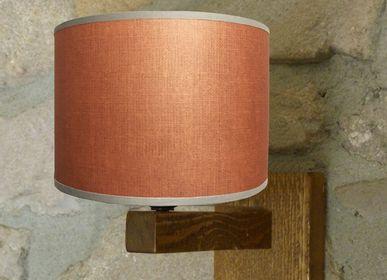 """Objets personnalisables - LAMPES CAMPAGNE """"DECOR LIN""""/ LAMPES A POSER,LAMPADAIRES ET APPLIQUES - LA MAISON DE GASPARD / FP CONCEPT"""