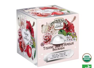"Coffee and tea - Organic ""Jour d'Amour"" Herbal tea - PROVENCE D ANTAN"
