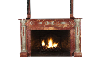 Other wall decoration - Art Deco period marble fireplace surround with upper mantle - MAISON LEON VAN DEN BOGAERT