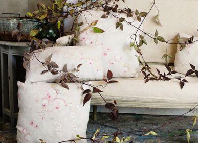 Coussins -  Rose Poudre Grand coussin lin  - ILLUSTRE