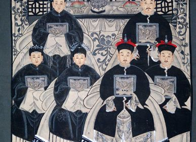 Paintings - Chinese Ancestors Painting - Modern - Revisited - ASIADECORATION / OBJETSCHINOIS
