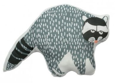 Children's bedrooms - SOFT CUSHION - HECTOR THE RACCOON - MIMI'LOU