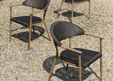 Armchairs - RIO outdoor armchair in aluminium. - ASIATIDES