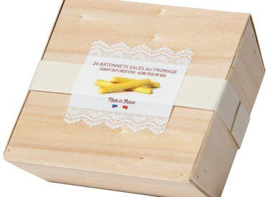Biscuits - BOÎTE BOIS BÂTONNETS AU FROMAGE DE PECORINO AOP - GOULIBEUR