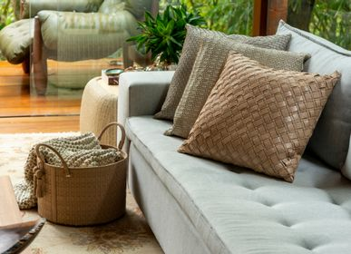 Cushions - Geometrico Braided Cushion - ELISA ATHENIENSE HOME