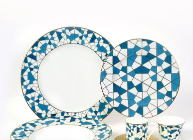 Assiettes de reception - Geo Blue Set  - ZARINA