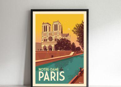Poster - POSTER NOTRE-DAME DE PARIS - MARCEL TRAVELPOSTERS