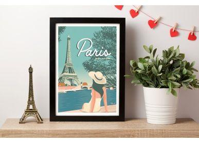 Poster - POSTER PARIS MON AMOUR - MARCEL TRAVELPOSTERS