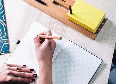 Gift - Toblerono Organizer  + Mini Toblerono - set of wood desk organizer and memo pad paper block - PULP SHOP