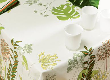 Kitchen fabrics - Agapanthes Tablecloth - BEAUVILLÉ