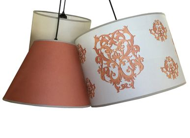 Customizable objects - CEILING LAMP WITH ONE OR THREE SHADES - LA MAISON DE GASPARD / FP CONCEPT