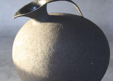 "Carafes - The "" Gourmandes"", big rounded  pitchers - ANNE KRIEG, CERAMISTE"