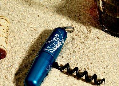 Travel accessories / suitcase - Blue corkscrew - LANCE DESIGN