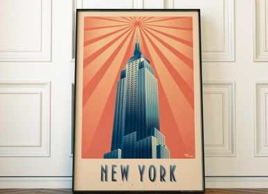"Poster - POSTER MARCEL NEW YORK ""EMPIRE STATE BUILDING"" - MARCEL TRAVELPOSTERS"