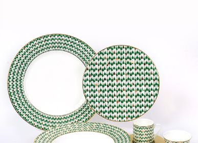Assiettes de reception - Swirl Green Set - ZARINA