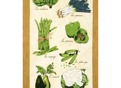 Torchons textile - Torchon Légumes Verts - BEAUVILLÉ