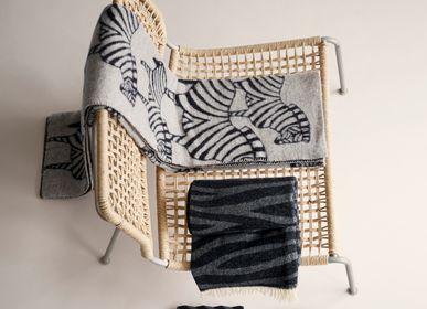 Throw blankets - Zebra natural beige, woven blanket, 100% lambs wool - KLIPPAN YLLEFABRIK AB