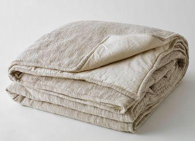 Throw blankets - BEIGE MARL LEOPOLDINE BEDSPREAD - PLAIDS COCOONING
