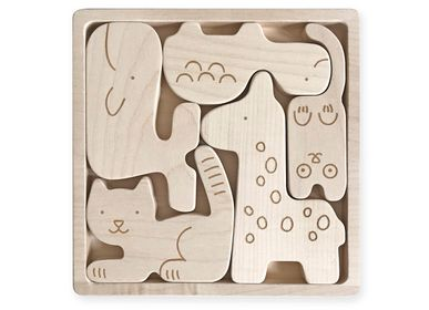 Toys - Wooden Animals Puzzle - BRIKI VROOM VROOM