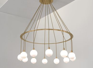 Ceiling lights - Drape Circle12 chandelier - SKLO