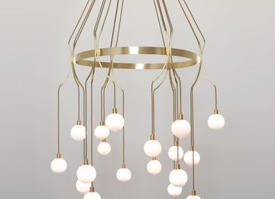 Ceiling lights - Drape Skirt18 chandelier - SKLO